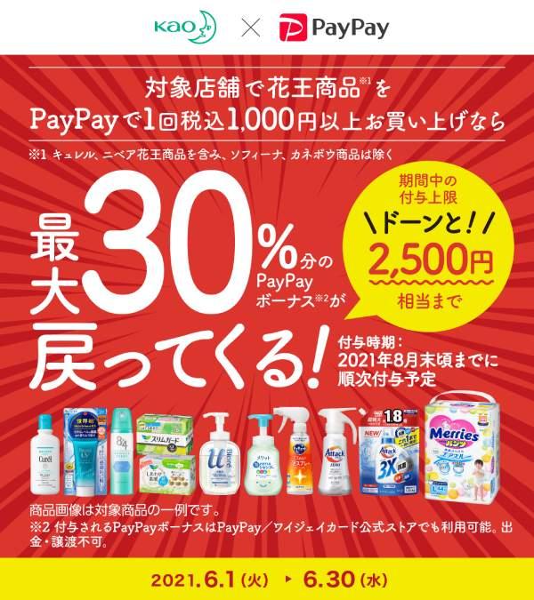 第3弾「花王商品の購入で最大30%戻ってくる」キャンペーン