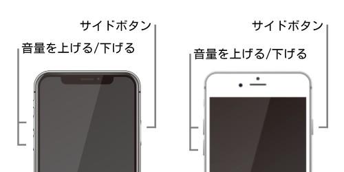 iPhone 8/ X/XS/XR/11/12シリーズ、iPhone SE(第2世代)の強制再起動方法