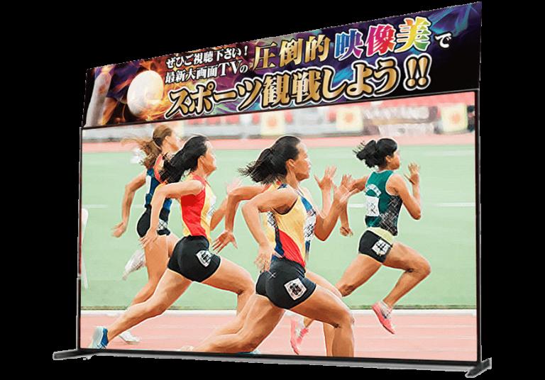 ノジマで4K画質でスポーツを見よう