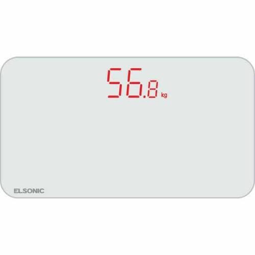 【エルソニック】コンパクト体重計 ホワイト/ECFSWS2