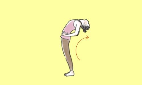 ステップ2.腰を押し出しながら上体を反らせる