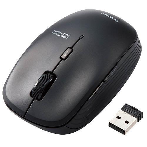 【エレコム】BlueLEDマウス/無線/5ボタン/抗菌/ブラック M-BL21DBKBK