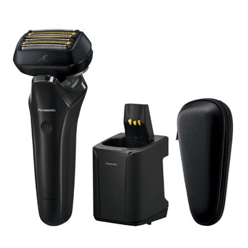 【パナソニック】メンズシェーバー ラムダッシュ 6枚刃[充電・交流式/防水仕様/ソフトケース付/全自動洗浄充電器付/海外対応/クラフトブラック]/ES-CLS9N-K