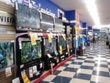 大型液晶コーナー 大型の展示の品揃えを増やしました。迫力満点になりました。