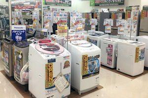 冷蔵庫 洗濯機コーナー