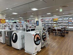 洗濯機、エアコンコーナー